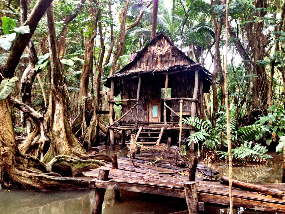 Pirates of the Caribbean Witches hut Indian River Dominica Double-Barrelled Travel