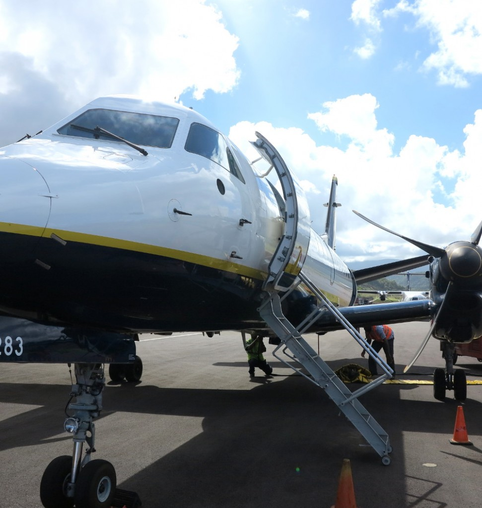 Plane in Dominica Double-Barrelled Travel