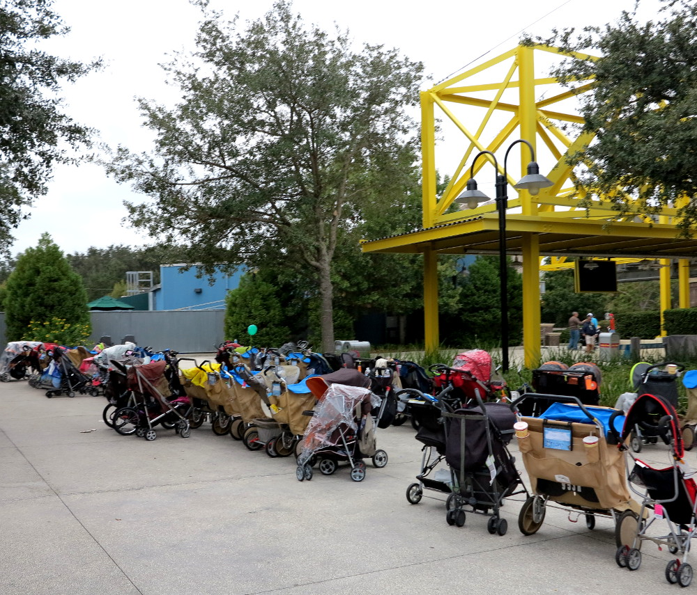 Prams at Disney Double-Barrelled Travel