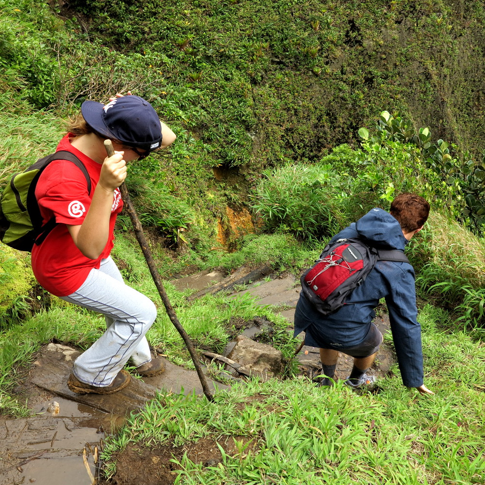 Steps down to Boiling Lake Dominica Double-Barrelled Travel
