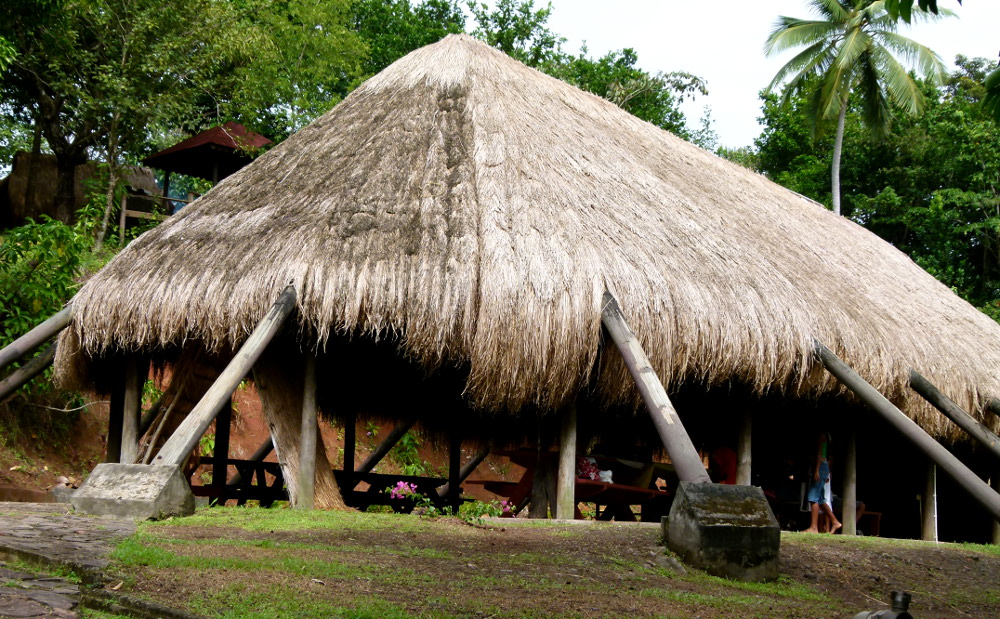 Traditional Kalinago building in Dominica Double-Barrlled Travel