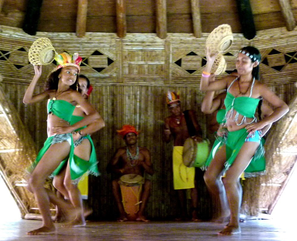 Traditional Kalinago dancers in Dominica Double-Barrlled Travel