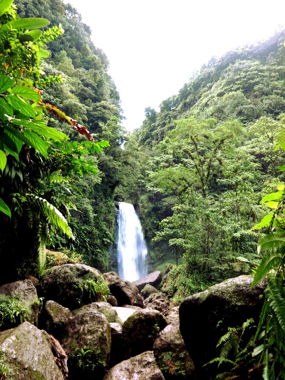 Trafalgar Falls Dominica Double-Barrelled Travel