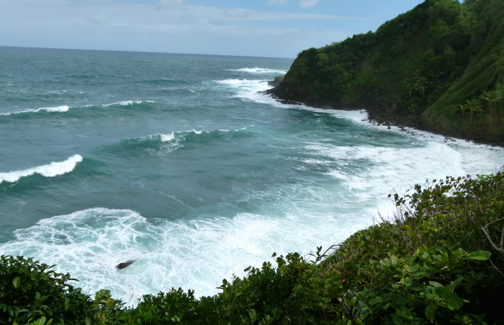 View of the Atlantic from the Kalinago territory Dominica Double-Barrlled Travel