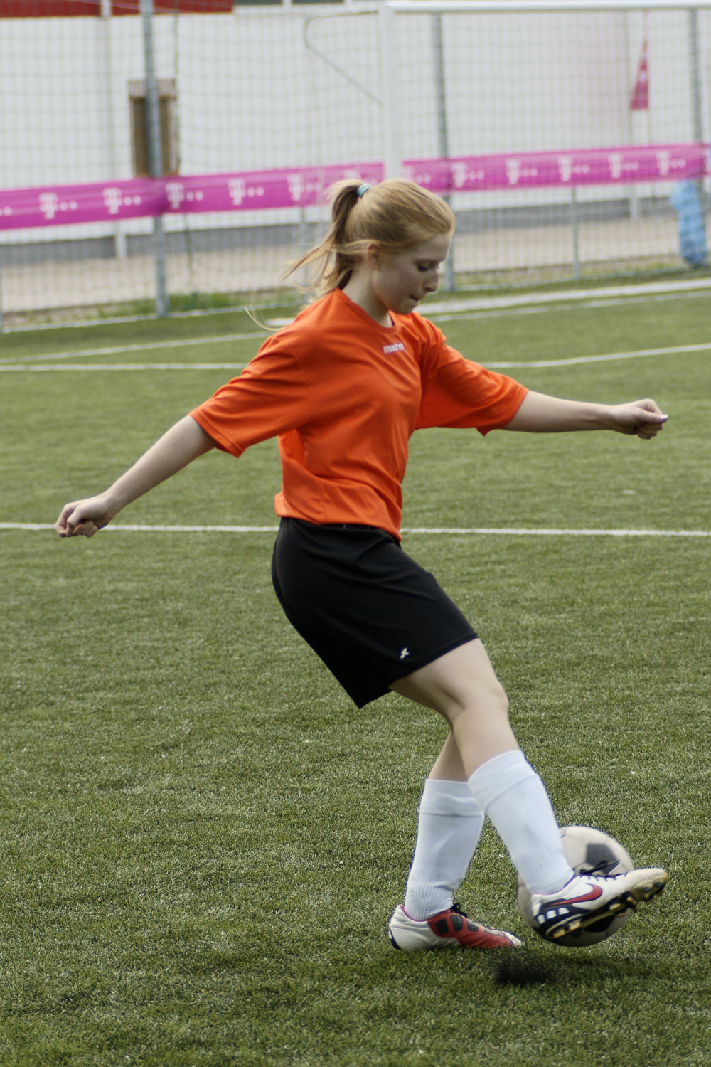 girl playing soccer Double-Barrelled Travel