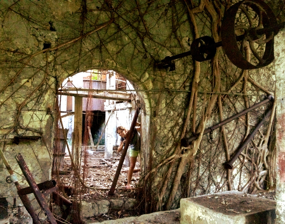 Abandoned rum distillery Guadeloupe Double-Barrelled Travel