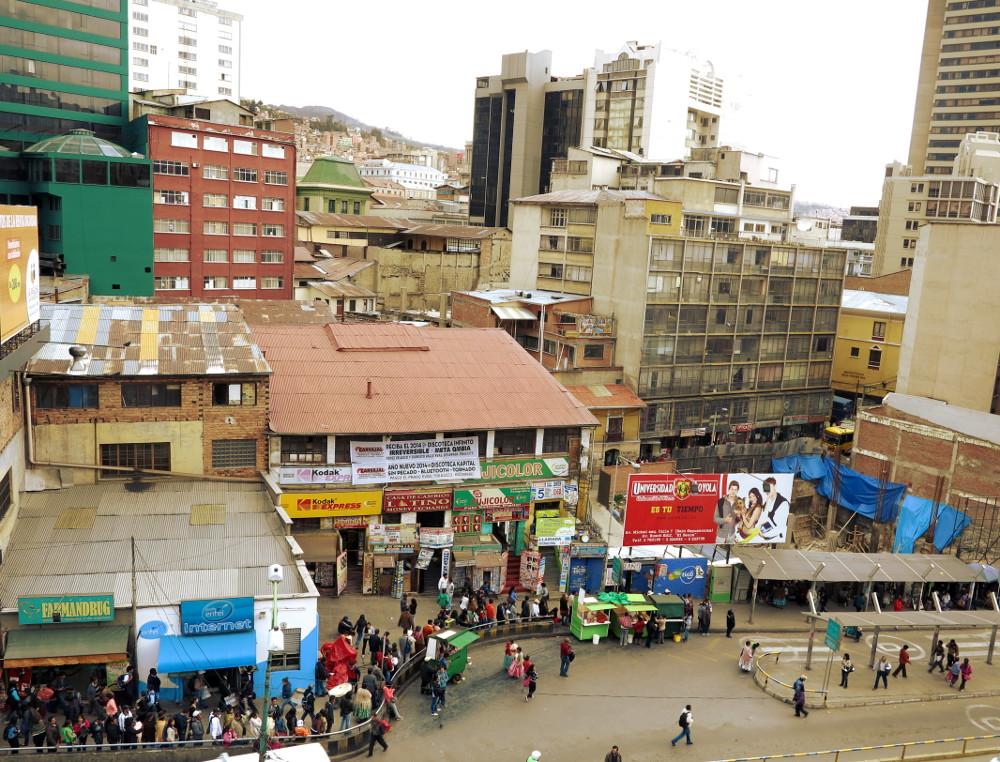 Bus station La Paz Bolivia Double-Barrelled Travel