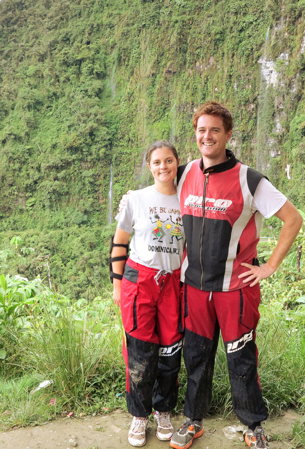 Carmen and Dave on the Death Road Bolivia Double-Barrelled Travel