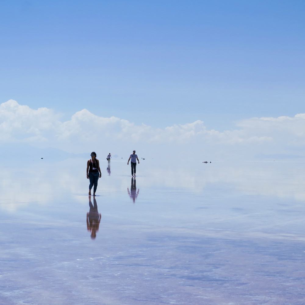 Carmen and Dave12 salt flats Bolivia Double-Barrelled Travel