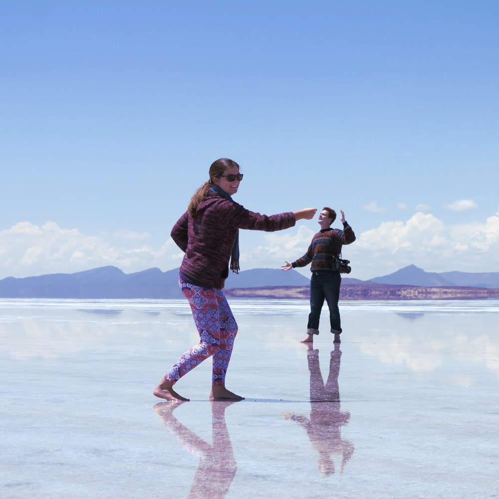 Carmen and Dave13 salt flats Bolivia Double-Barrelled Travel
