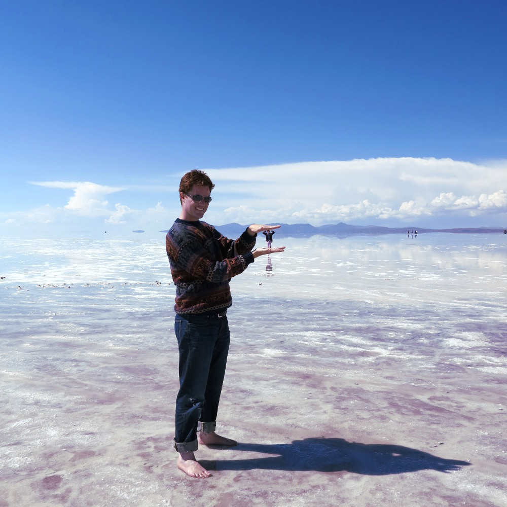 Carmen and Dave5 salt flats Bolivia Double-Barrelled Travel