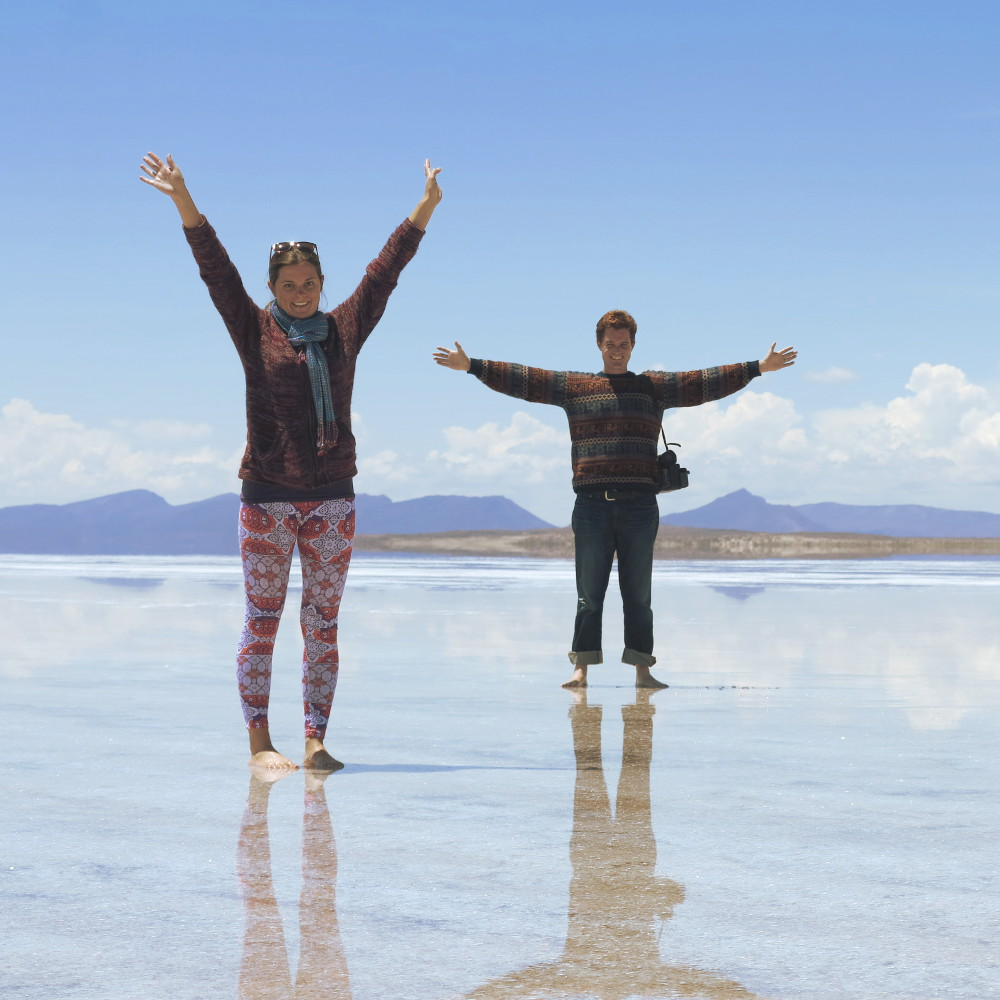 Carmen and Dave6 salt flats Bolivia Double-Barrelled Travel