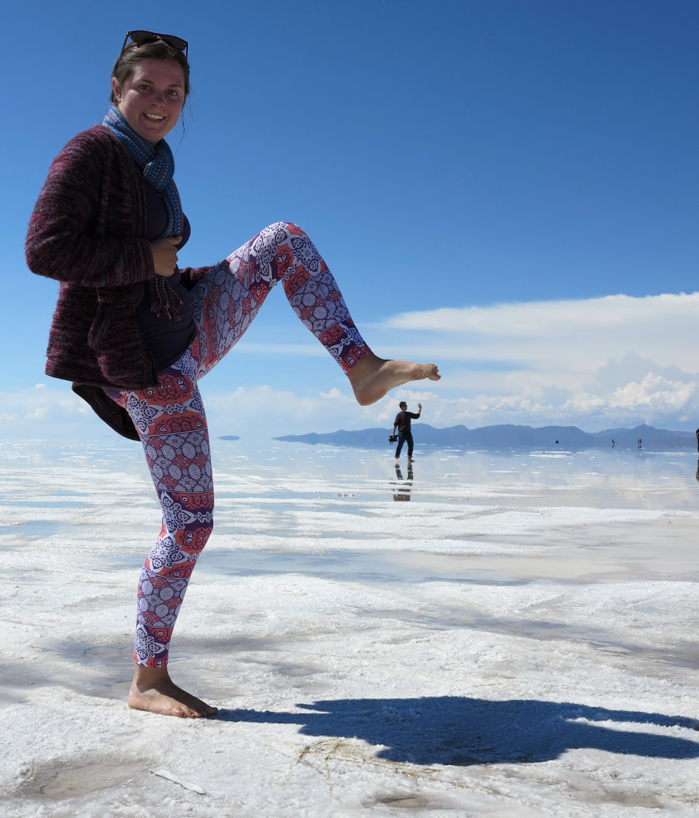 Carmen and Dave8 salt flats Bolivia Double-Barrelled Travel