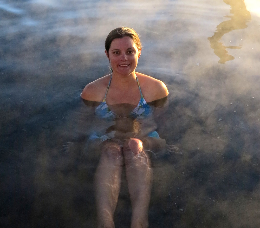 Carmen in hot springs Bolivia Double-Barrelled Travel