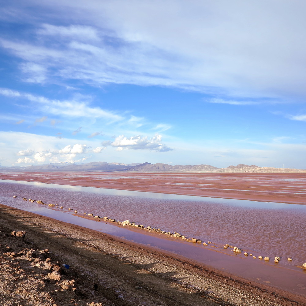 Driving views salt flats tour Bolivia Double-Barrelled Travel