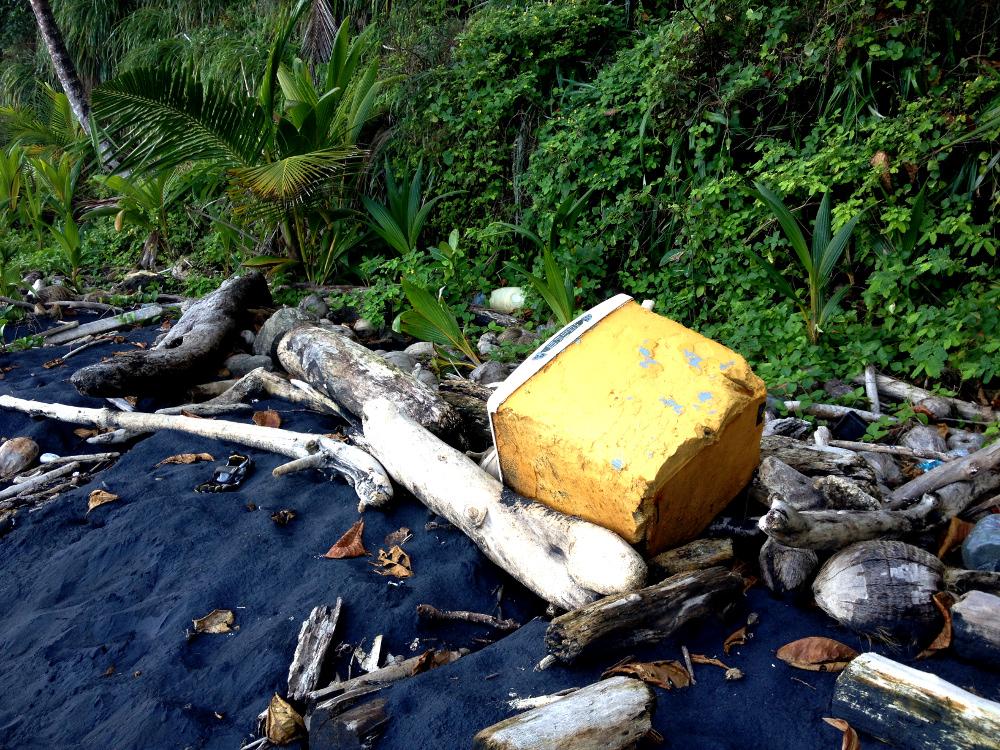 Dumped rubbish Wavine Cyrique Dominica Double-Barrelled Travel