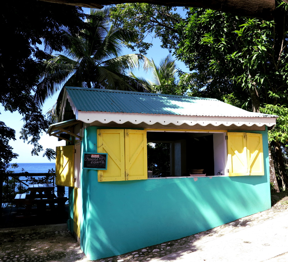 Food shack Champagne Reef Dominica Double-Barrelled Travel