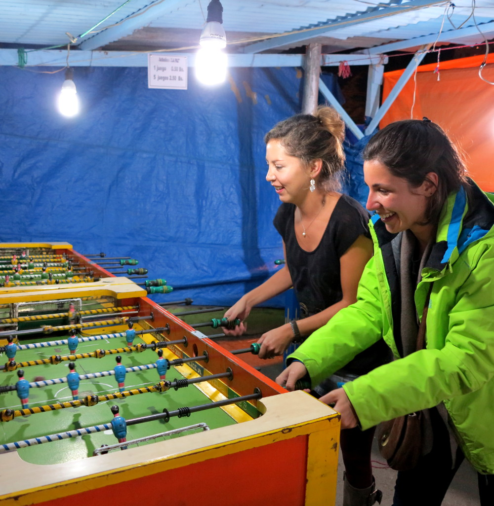 Foosball at Alisitas La Paz Bolivia Double-Barrelled Travel