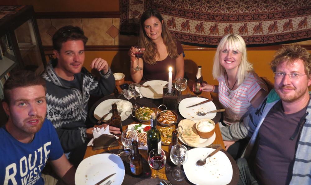 Group photo Curry house La Paz Bolivia Double-Barrelled Travel