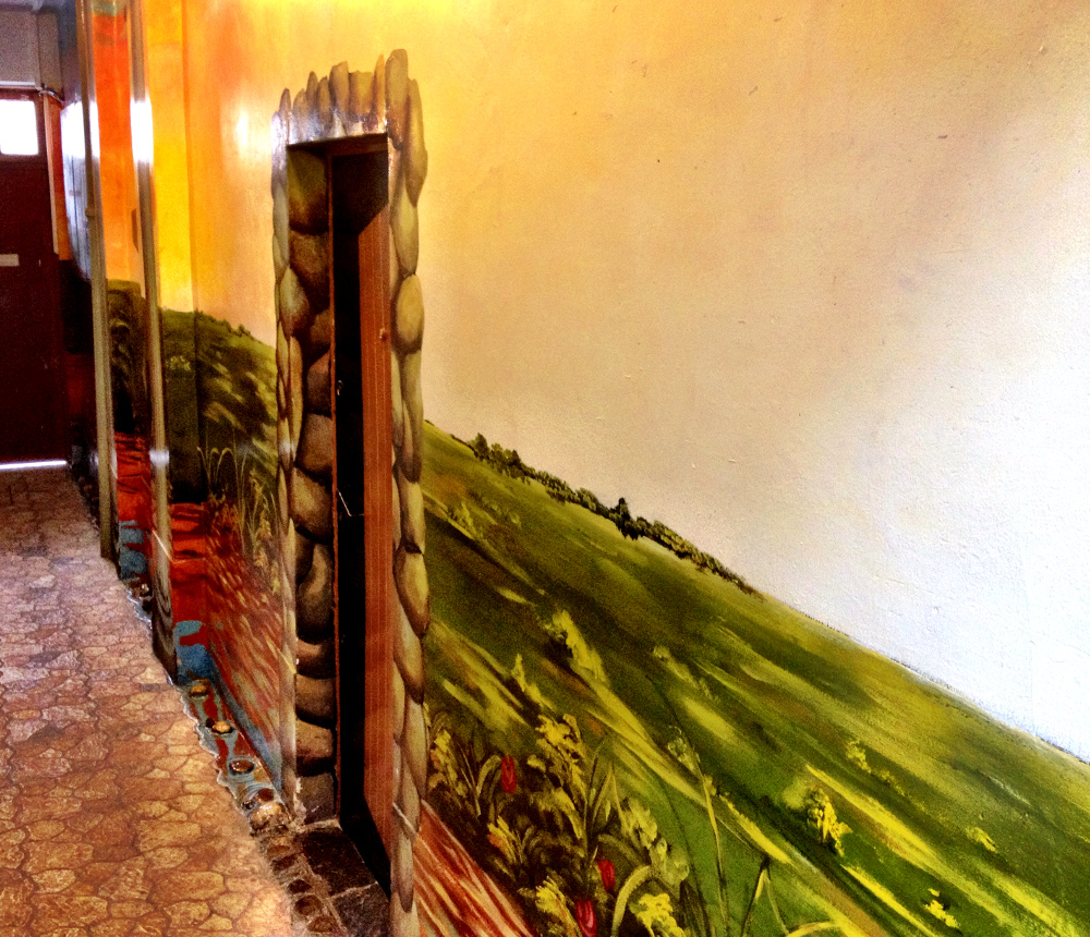 Hallway mural at Namas Te La Paz Bolivia Double-Barrelled Travel