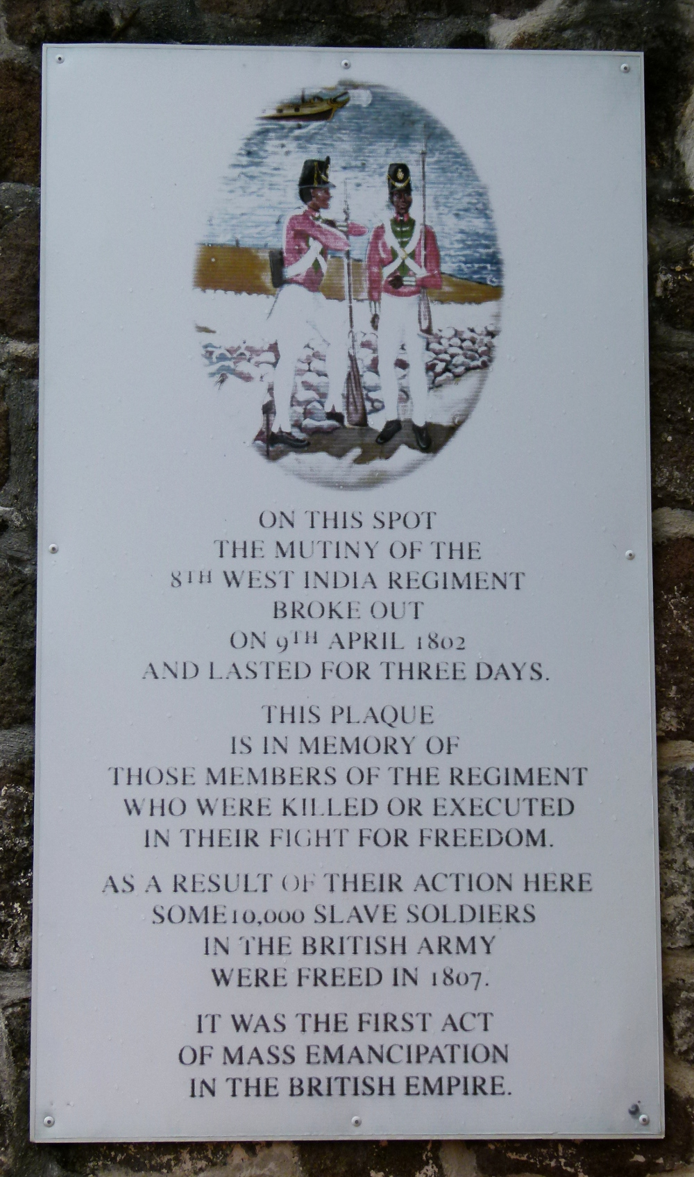 Plaque at Fort Shirley Double-Barrelled Travel