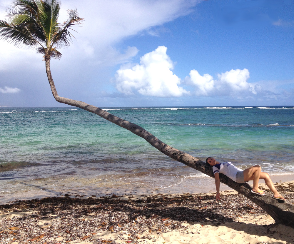 Relaxing on beach Guadeloupe Double-Barrelled Travel