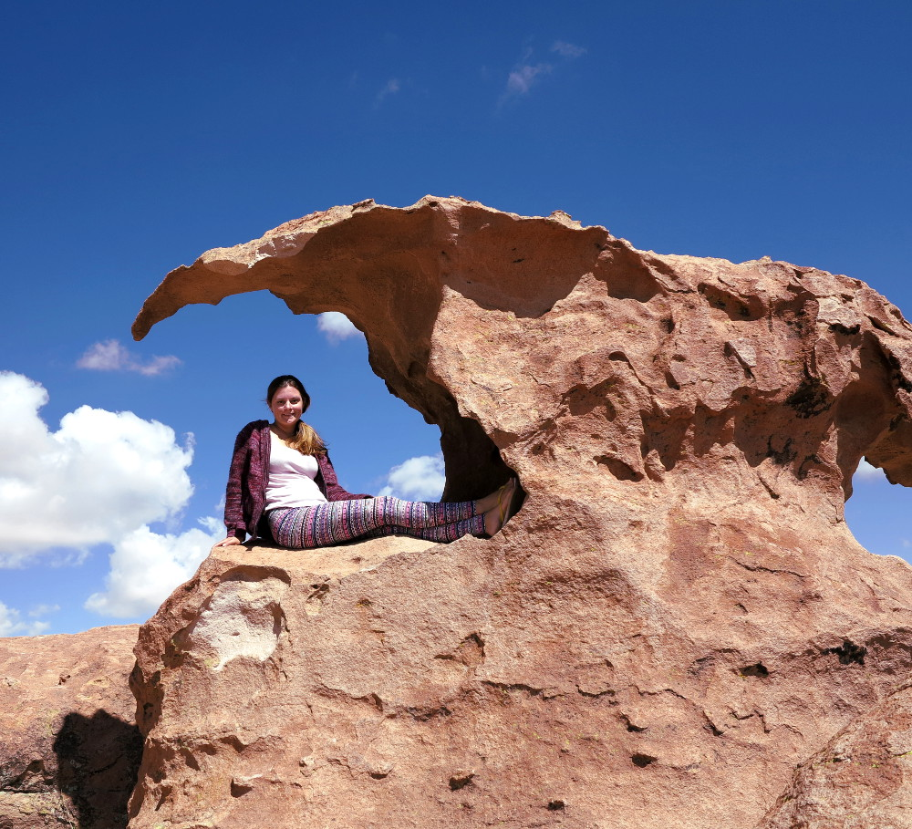 Rock formations valley of rocks salt flats tour Bolivia Double-Barrelled Travel