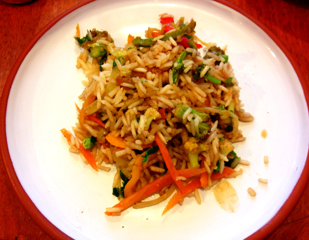 Stir fried rice in Bolivia Double-Barrelled Travel