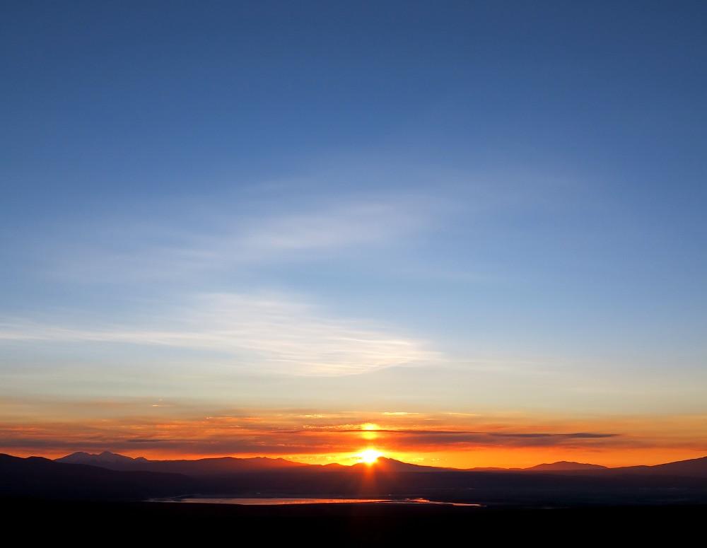 Sunrise near geysers in Bolivia Double-Barrelled Travel