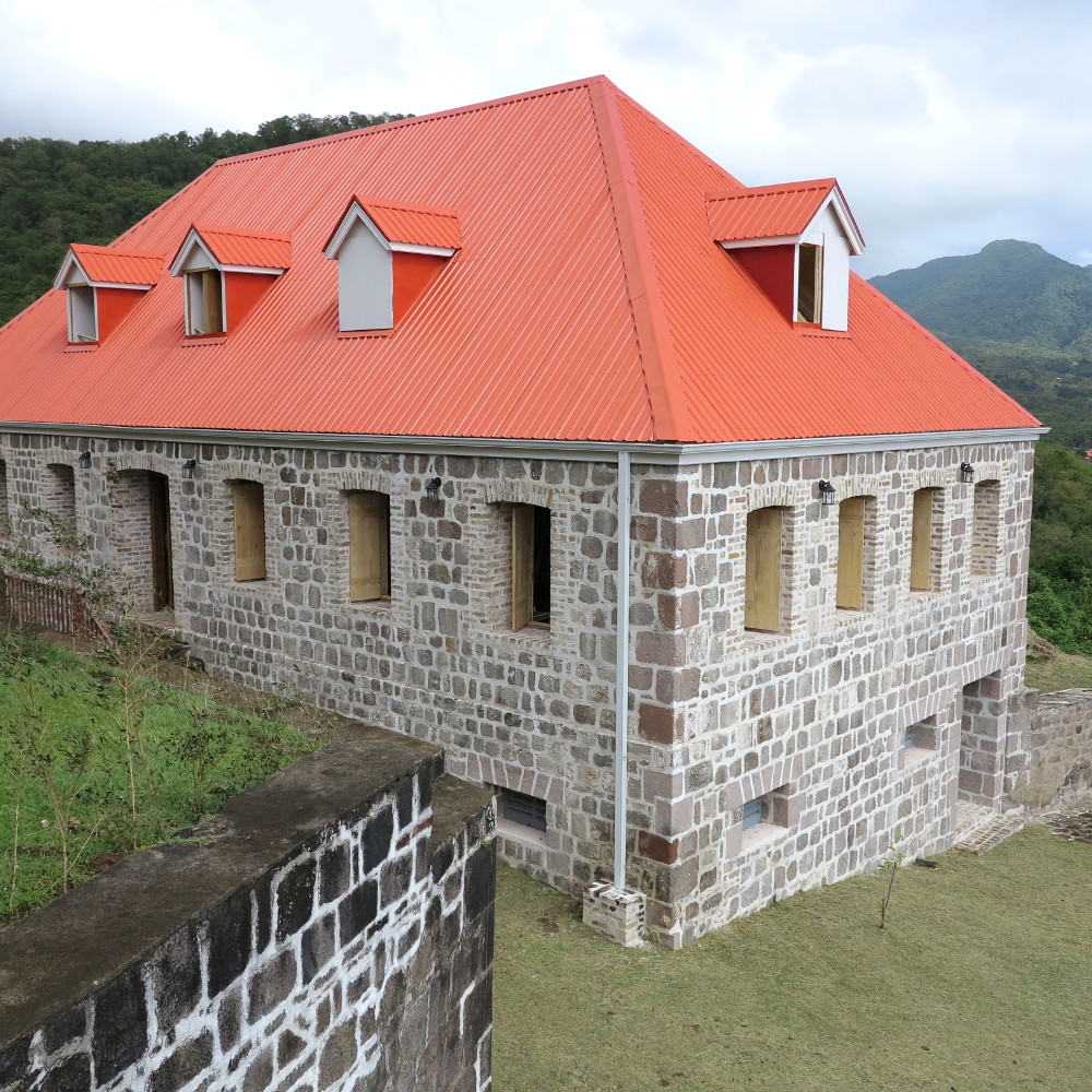 The barracks at Fort Shirley Double-Barrelled Travel