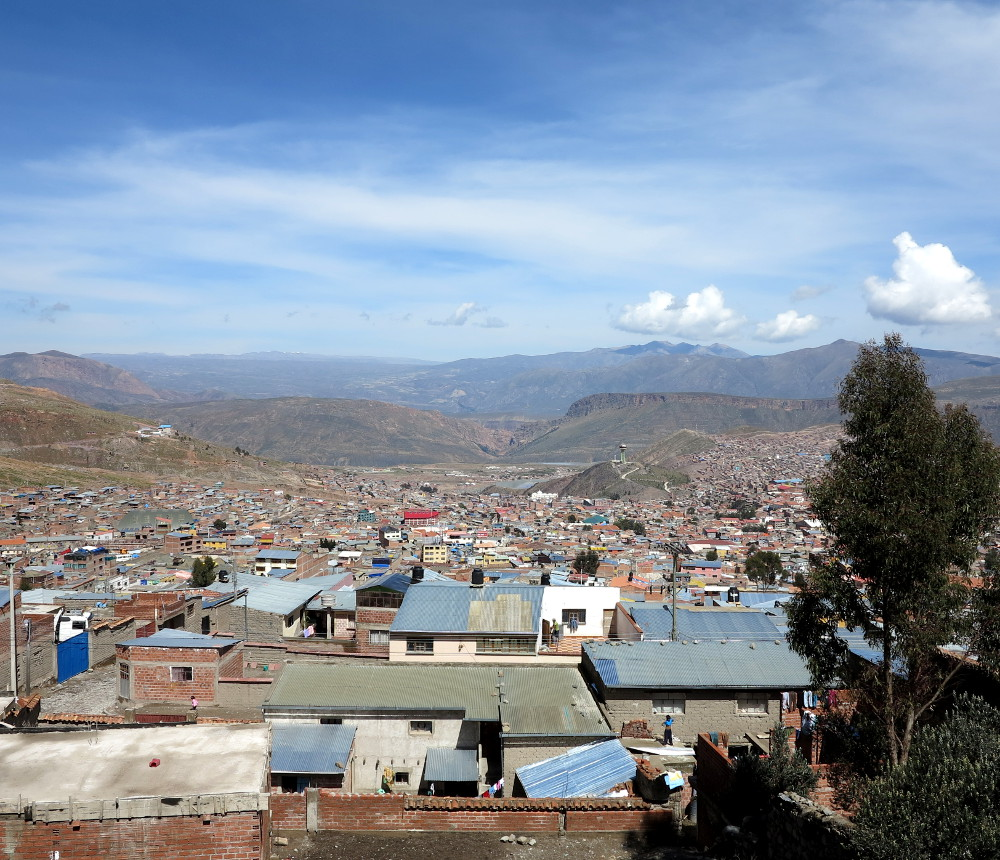 View of Potosi Bolivia Double-Barrelled Travel