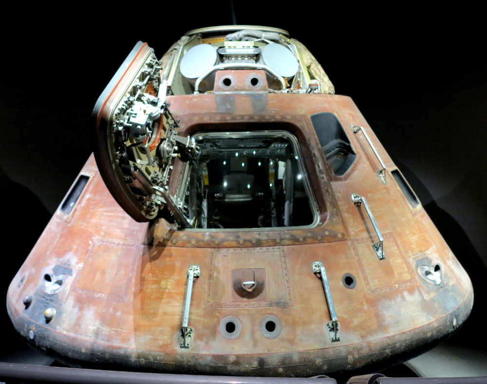 Apollo 13 capsule at NASA Double-Barrelled Travel