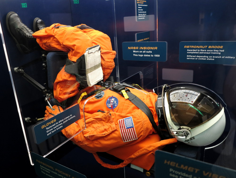 Astronaut uniform at NASA Kennedy Space Center Double-Barrelled Travel
