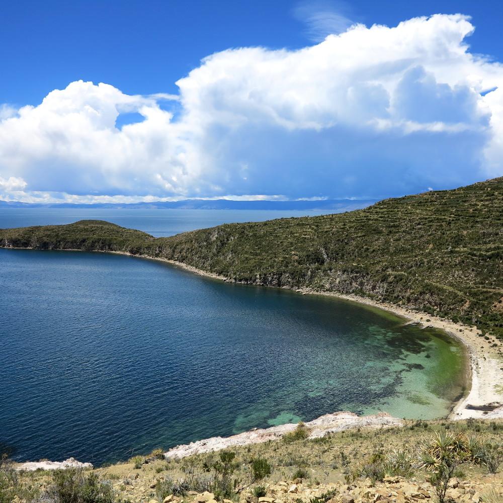 Beautiful bay on Isla del Sol Double Barrelled Travel
