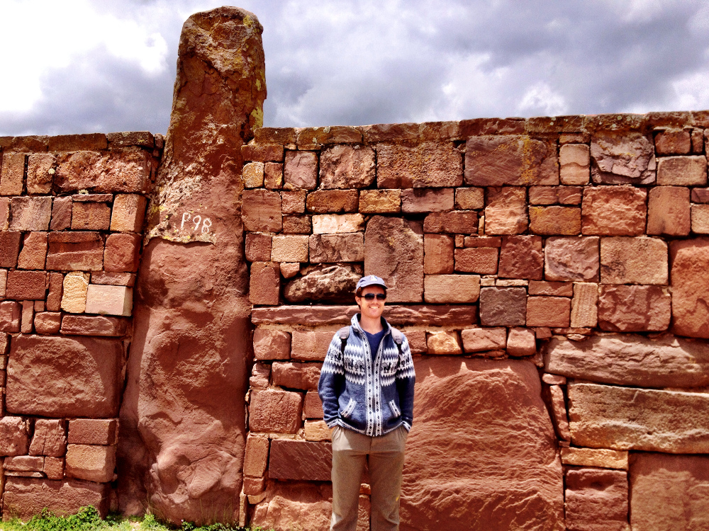 Dave at Tiwanaku Double-Barrelled Travel