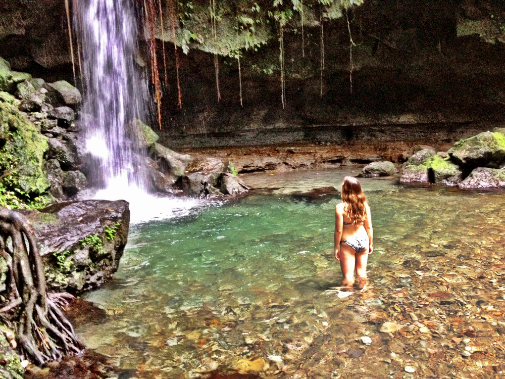 Emerald Pool Waitukubuli trail Dominica Double-Barrelled Travel