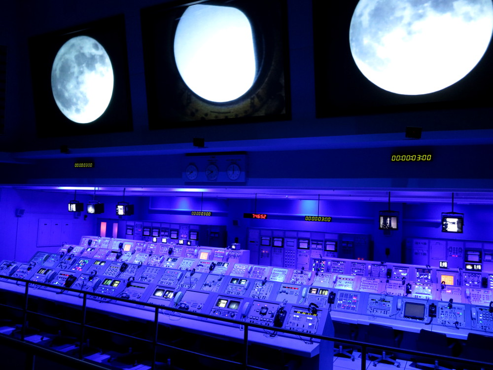 Inside the control room at NASA Kennedy Space Center Double-Barrelled Travel