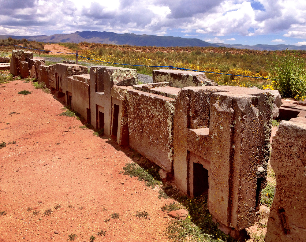 Ruins at Tiwanaku Double-Barrelled Travel