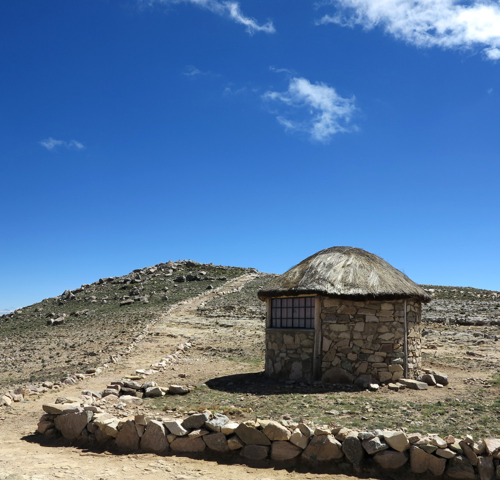 Stone hut on Isla del Sol Double Barrelled Travel