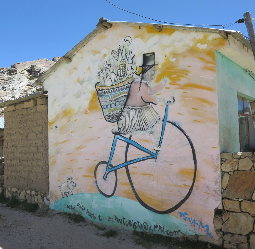 Street art Isla del Sol Double Barrelled Travel