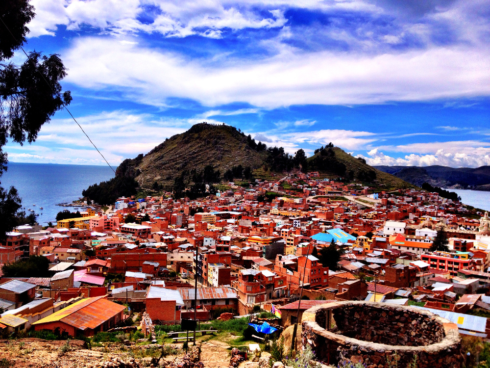 View on the hike in Copacabana Bolivia Double-Barrelled Travel