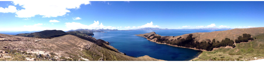 View on the hike of Isla del Sol Bolivia Double-Barrelled Travel