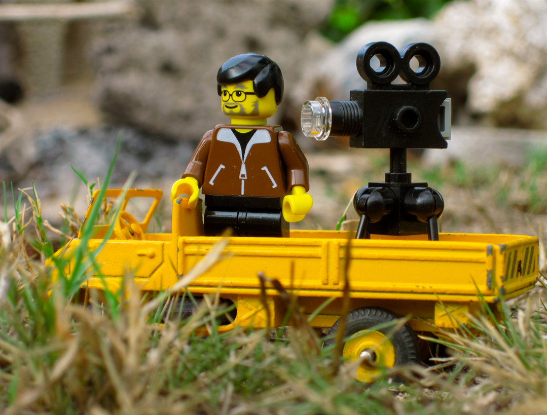 lego filming camera Red Platypus