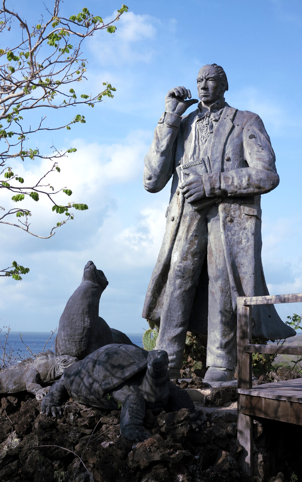 Charles Darwin monument San Cristobal Galapagos Double-Barrelled Travel