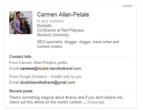 Screen shot Carmen Allan-Petale authorship Red Platypus