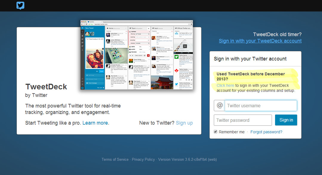 Tweetdeck screen grab Red Platypus