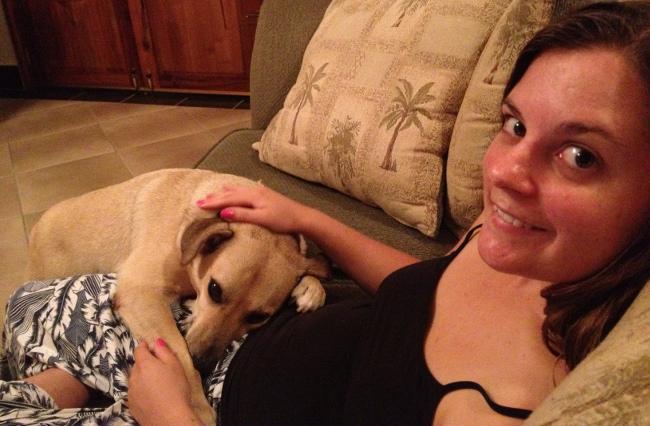 Dog cuddles Double-Barrelled Travel