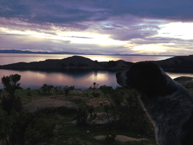 Isla del Sol sunset Bolivia Double-Barrelled Travel