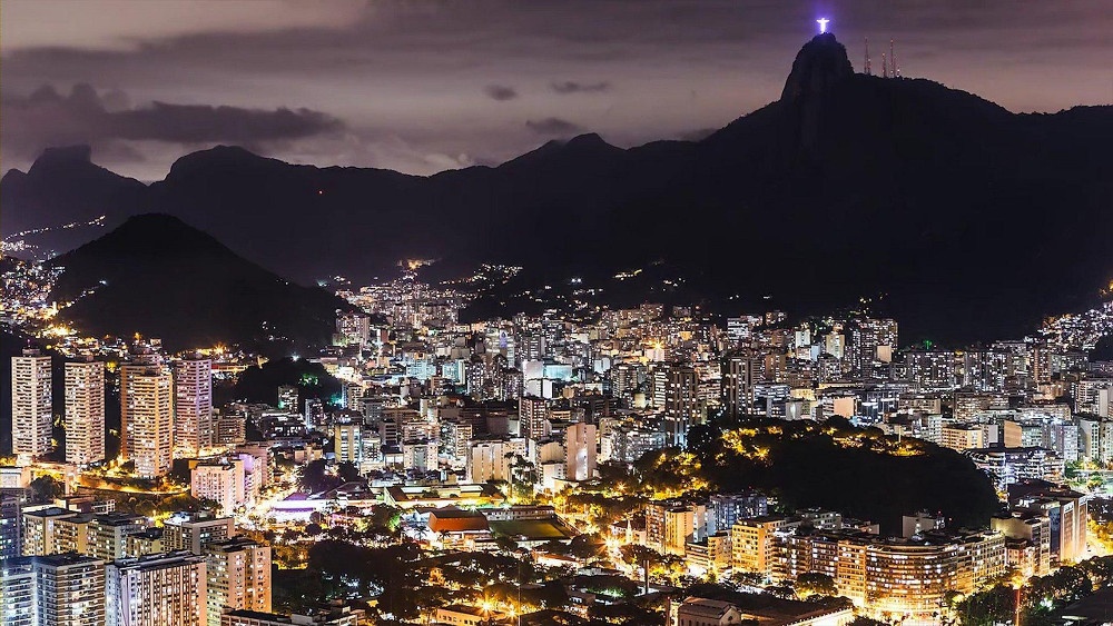 Rio at night Brazil Double-Barrelled Travel