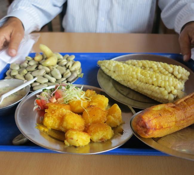 Typical Ecuadorian meal Double-Barrelled Travel